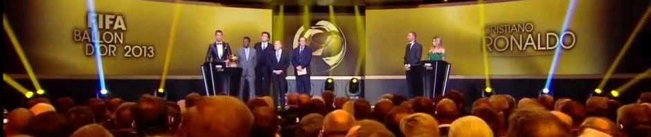 Cristiano Ronaldo vince il Pallone d'oro 2013
