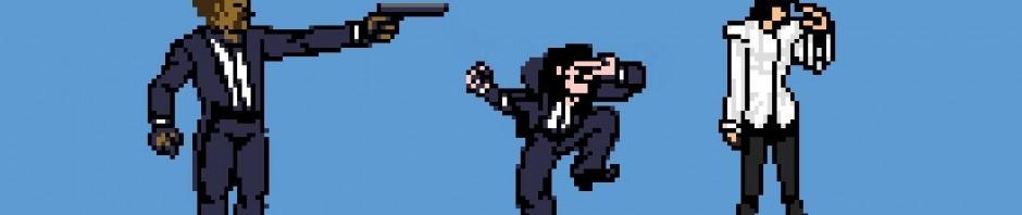 Pulp Fiction versione arcade videogame a 8 bit