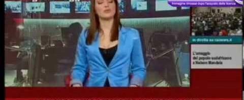 Giornalista di Rai News Laura Tangherlini si è rotta er c… in diretta-tv