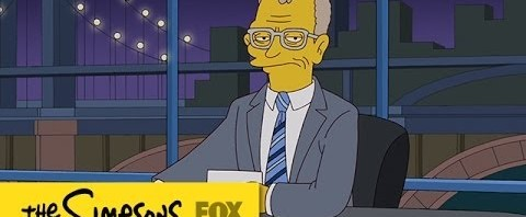 I Simpsons salutano David Letterman