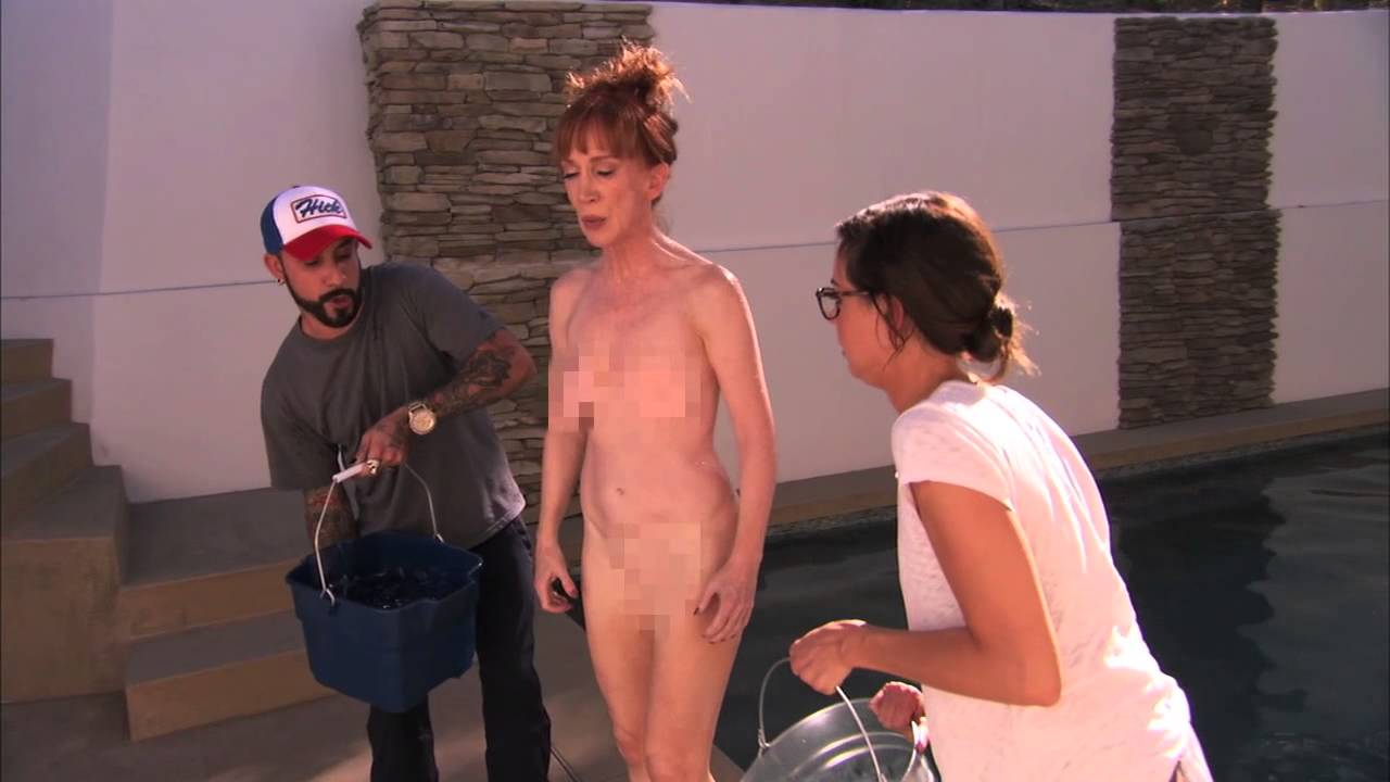 Comedienne kathy griffin goes nude for als ice bucket
